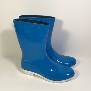 Ugg Blue Rubber Rain Boots Women Size 8 B